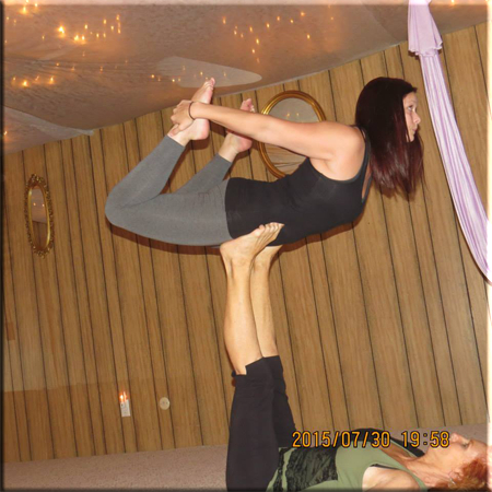 Acro front bow pose